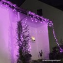 10m Profi- Lichterkette 100 pinke LED IP44